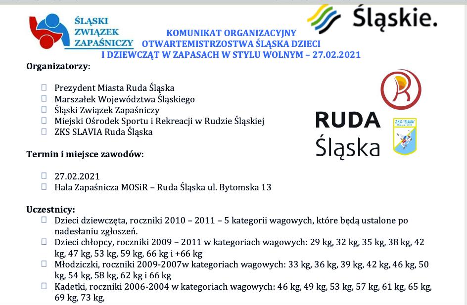 Mistrzostwa Rudy Śląskiej w zapasach i Puchar Żołnierzy wyklętych w Sochaczewie.